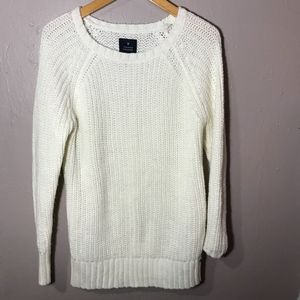 Knit white American Eagle Jegging Sweater Size S